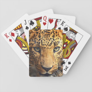 Baralho Leopardo manchado preto de Brown