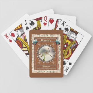 Baralho Libélula - cartões de jogo clássicos da ilusão