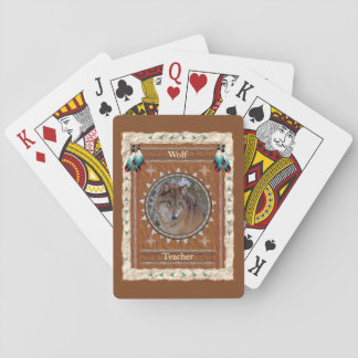 Baralho Lobo - cartões de jogo clássicos do professor