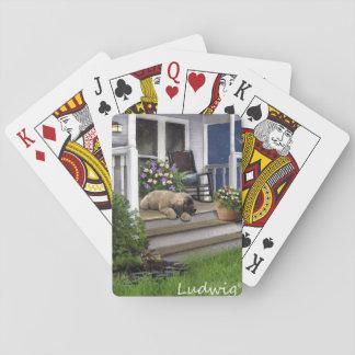 Baralho Ludwig o cartão de jogo do filhote de cachorro de