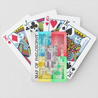Baralho Mapa de cartões de jogo da filosofia