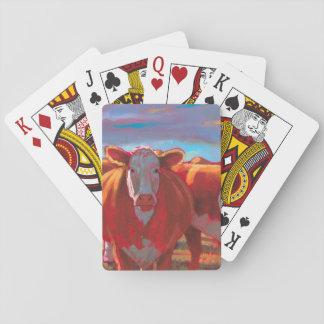 Baralho Margarida os cartões de jogo da vaca