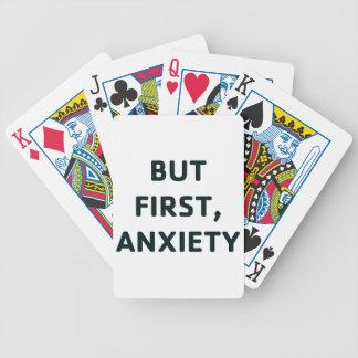 Baralho Mas primeiramente, ansiedade