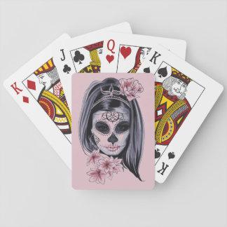 Baralho Máscara do esqueleto da mulher