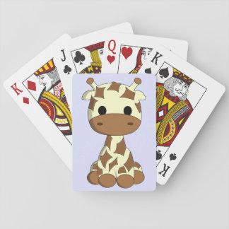 Baralho Miúdos bonitos dos desenhos animados do girafa do