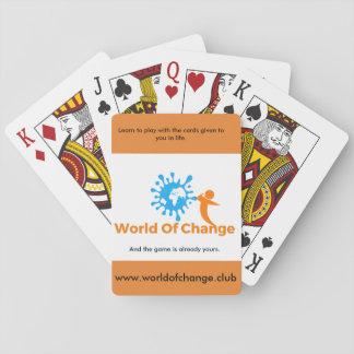 Baralho Mundo de cartões de jogo da mudança