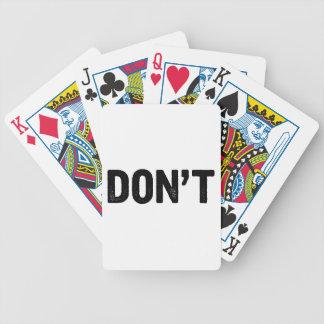 Baralho Não faça