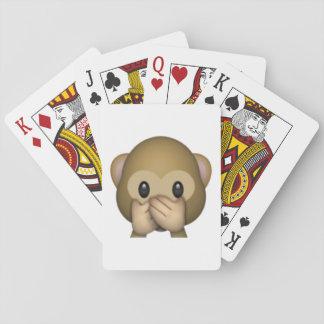 Baralho Não fale nenhum macaco mau - Emoji