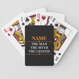 Baralho Nome personalizado o homem o mito a legenda