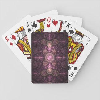 Baralho O cartão de jogo cor-de-rosa da jóia