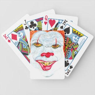 Baralho O Dia das Bruxas Clown2 assustador
