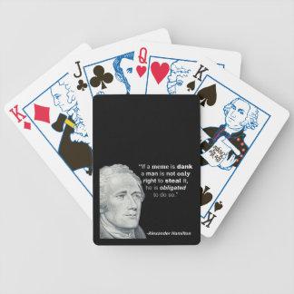 Baralho O Meme húmido de Alexander Hamilton - cartões de