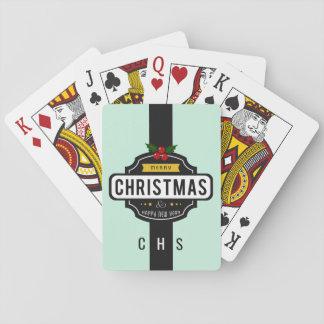 Baralho O Natal deseja cartões de jogo feitos sob