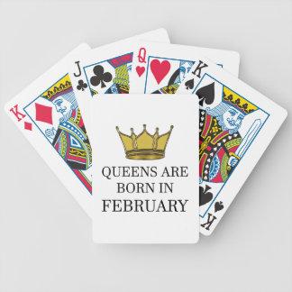 Baralho O Queens é nascido em fevereiro