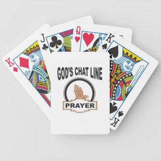 Baralho oração do bate-papo dos deuses