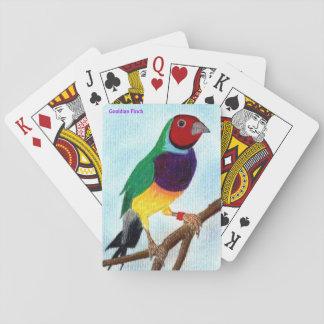 Baralho ~ original da arte do ~ do passarinho de Gouldian