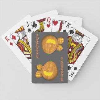 Baralho Os cartões de jogo da abóbora do canto