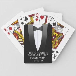 Baralho Os cartões de jogo do partido do póquer da noite