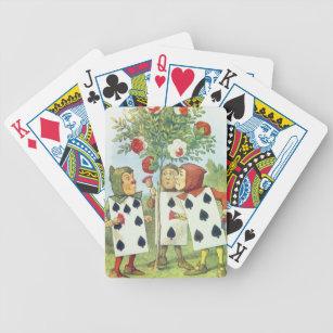 Baralho Os cartões de jogo que pintam Bush cor-de-rosa