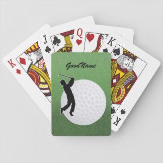 Baralho Os cartões para o jogador de golfe, personalizam