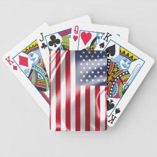 Baralho Os EUA embandeiram para cartões de jogo do póquer