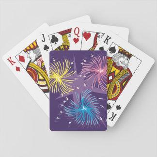 Baralho Os fogos-de-artifício indicam cartões de jogo