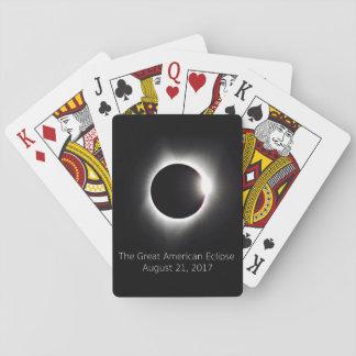 Baralho Os grandes cartões de jogo americanos do eclipse