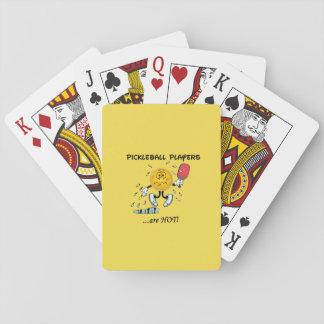 Baralho Os jogadores de Pickleball são cartões quentes