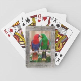 Baralho Papagaios em uma plataforma de cartões de jogo