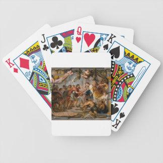 Baralho Para Poker A reunião de Abraham e de arte de Melchizedek