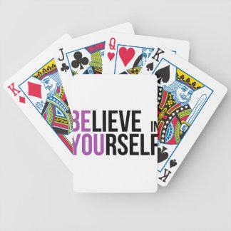 Baralho Para Poker Acredite em o senhor mesmo - seja você