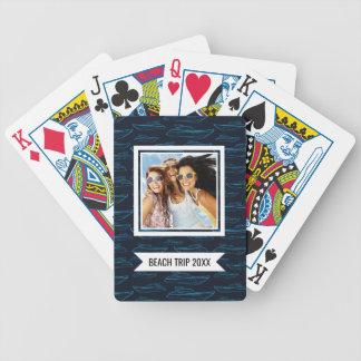 Baralho Para Poker Adicione seu teste padrão   azul conhecido do iate