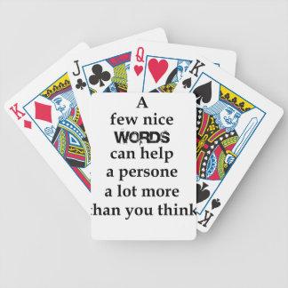 Baralho Para Poker algumas palavras agradáveis podem ajudar uma