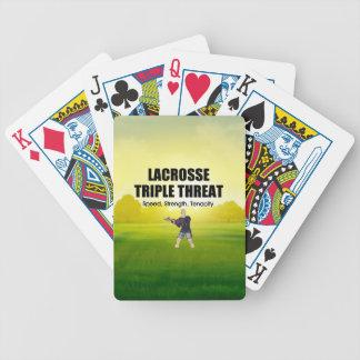 Baralho Para Poker Ameaça SUPERIOR triplicar-se do Lacrosse