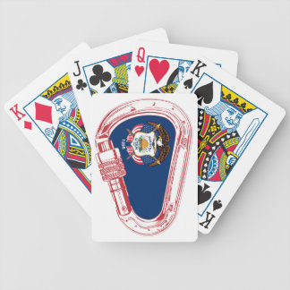 Baralho Para Poker Bandeira de Utá que escala Carabiner