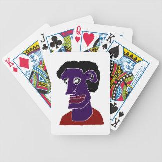 Baralho Para Poker Caricatura do retrato do homem