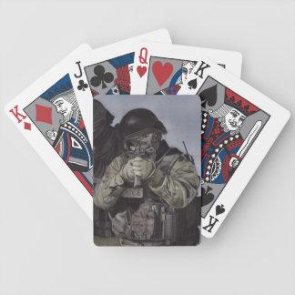 Baralho Para Poker Cartões de jogo da aguarela da equipa SWAT