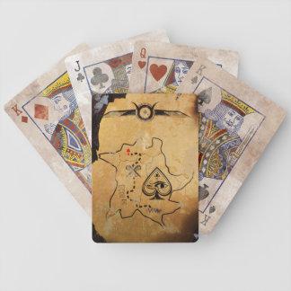 Baralho Para Poker Cartões de jogo egípcios do mapa do tesouro