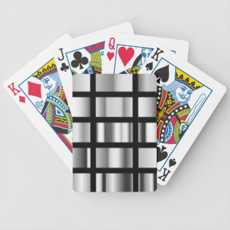 Baralho Para Poker Colagem metálica de prata preta