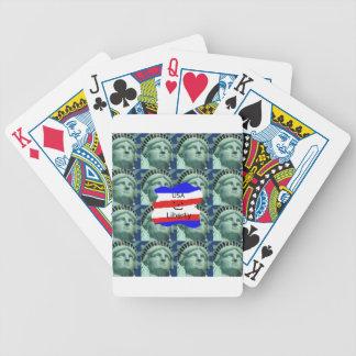 Baralho Para Poker Cores da bandeira dos EUA com estátua da liberdade