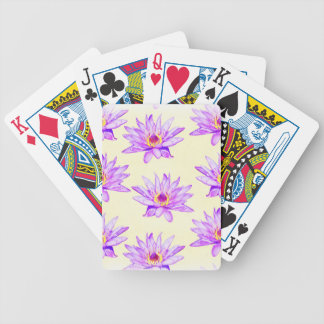 Baralho Para Poker creme das flores de lótus manchado de tinta