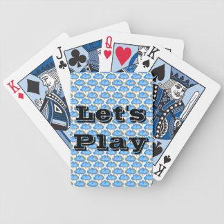 Baralho Para Poker Deixe-nos jogar os azuis
