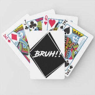 """Baralho Para Poker Design da palavra de """"Bruh"""""""