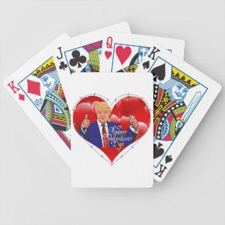 Baralho Para Poker dia dos namorados feliz Donald Trump