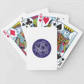 Baralho Para Poker Esfera azul abstrata dos trabalhos de arte da bola