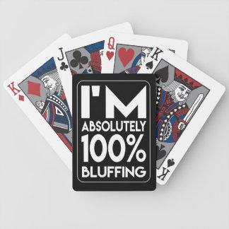 Baralho Para Poker Eu estou blefando cartões de jogo