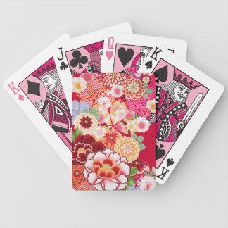 Baralho Para Poker Explosão floral vermelha de Falln