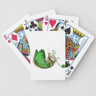 Baralho Para Poker Fada de Elven em um barco da folha