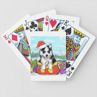 Baralho Para Poker Filhote de cachorro do Malamute do Alasca