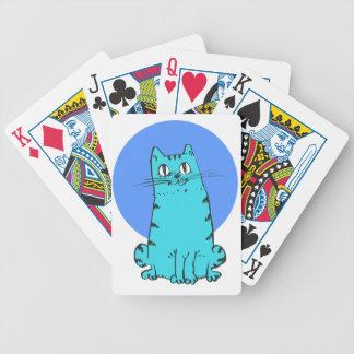 Baralho Para Poker gatinho doce dos desenhos animados do gato azul